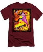 Hoops Basketball Player Abstract Men's T-Shirt (Athletic Fit)