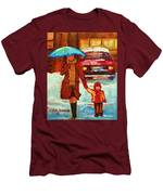 Moms Blue Umbrella Men's T-Shirt (Athletic Fit)