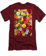 Smiley Face Button Men's T-Shirt (Athletic Fit)