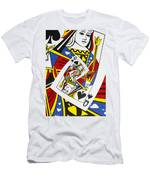 Queen Of Spades Collage Men's T-Shirt (Athletic Fit)