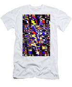 Yellow Red Blue Black And White Abstract Men's T-Shirt (Athletic Fit)