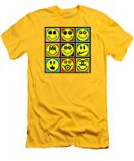 Happy Logos Men's T-Shirt (Athletic Fit)