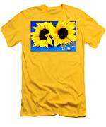 Van Gogh's Sunflower Miniature Art Men's T-Shirt (Athletic Fit)