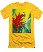 Blue-headed Hummingbirds And Heliconia Men's T-Shirt (Athletic Fit)