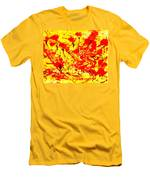 Flying Poppies Men's T-Shirt (Athletic Fit)
