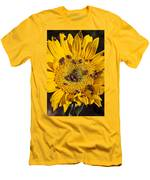 Sunflower Covered In Ladybugs Men's T-Shirt (Athletic Fit)