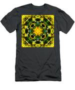 Stained Glass Sun Mandala Men's T-Shirt (Athletic Fit)