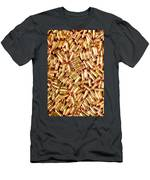 9mm Brass Ammo Men's T-Shirt (Athletic Fit)