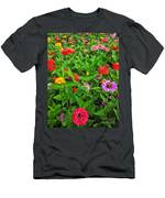 A Sea Of Zinnias 04 Men's T-Shirt (Athletic Fit)