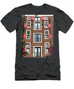Amsterdam Architecture Men's T-Shirt (Athletic Fit)