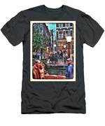 Amsterdam Saturday Night Men's T-Shirt (Athletic Fit)