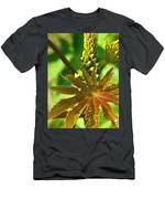Castor Bean Leaf And Pod Men's T-Shirt (Athletic Fit)