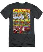 Central Michigan Football Collage Men's T-Shirt (Athletic Fit)