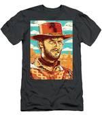Clint Eastwood Pop Art Men's T-Shirt (Athletic Fit)
