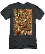 Colorful Lights Christmas Card Men's T-Shirt (Athletic Fit)