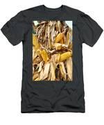 Corn Shock - Sign Of Autumn Men's T-Shirt (Athletic Fit)