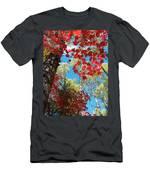 Crimson Foliage Men's T-Shirt (Athletic Fit)