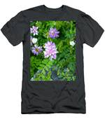 Crown Vetch Wildflowers Men's T-Shirt (Athletic Fit)