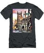 Queensboro Bridge Men's T-Shirt (Athletic Fit)
