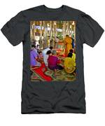 Families Awaiting Teaching From A Monk At Wat Tha Sung Temple In Uthaithani-thailand Men's T-Shirt (Athletic Fit)
