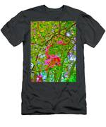 Flowering Blossoms Tree Paint Style Men's T-Shirt (Athletic Fit)