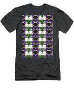 Flowers From Cherryhill Nj America White  Purple Combination Graphically Enhanced Innovative Pattern Men's T-Shirt (Athletic Fit)