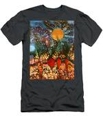 Garden In Moonlight Men's T-Shirt (Athletic Fit)