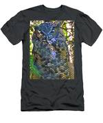 Great Horned Owl In Salmonier Nature Park-nl Men's T-Shirt (Athletic Fit)