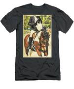 Hang On Tight To Your Painted Horse Men's T-Shirt (Athletic Fit)