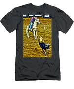 Heeled Steer Men's T-Shirt (Athletic Fit)