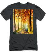 Hidden Path - Palette Knife Oil Painting On Canvas By Leonid Afremov Men's T-Shirt (Athletic Fit)