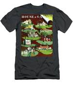 House & Garden Cover Illustration Of 9 Houses Men's T-Shirt (Athletic Fit)