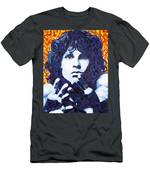 Jim Morrison Chuck Close Style Men's T-Shirt (Athletic Fit)