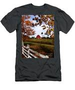 Just Across The Fence Men's T-Shirt (Athletic Fit)
