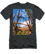 Landscape Arch - Arches National Park Men's T-Shirt (Athletic Fit)