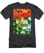 Leopard Lily Men's T-Shirt (Athletic Fit)