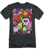 Love Flowers Garden Men's T-Shirt (Athletic Fit)