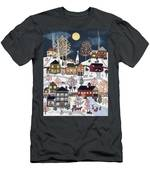 Moonlight In Vermont Men's T-Shirt (Athletic Fit)