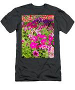 Multi-colored Blooming Petunias Background Men's T-Shirt (Athletic Fit)