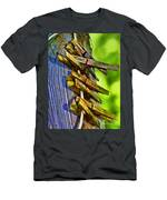 Old Clothes Pins II - Digital Paint Men's T-Shirt (Athletic Fit)