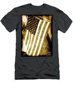Old Glory Sepia Rustic Men's T-Shirt (Athletic Fit)