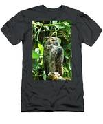Owl Portrait 2 Men's T-Shirt (Athletic Fit)