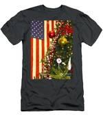 Patriotic Christmas Men's T-Shirt (Athletic Fit)