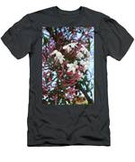 Pink Buds And Jasmine Blossom Close Up Men's T-Shirt (Athletic Fit)