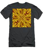Red And Gold Christmas Kaleidescope Men's T-Shirt (Athletic Fit)