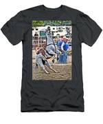 Rodeo Horse Cheers Men's T-Shirt (Athletic Fit)