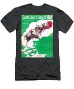 Santa Claus Is Comin To Town Men's T-Shirt (Athletic Fit)