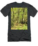 Shades Mountain Bridge In The Forest Men's T-Shirt (Athletic Fit)