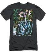 Succulent Flower Caught In A Moonbeam Men's T-Shirt (Athletic Fit)