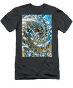 Swirly Mirror Men's T-Shirt (Athletic Fit)